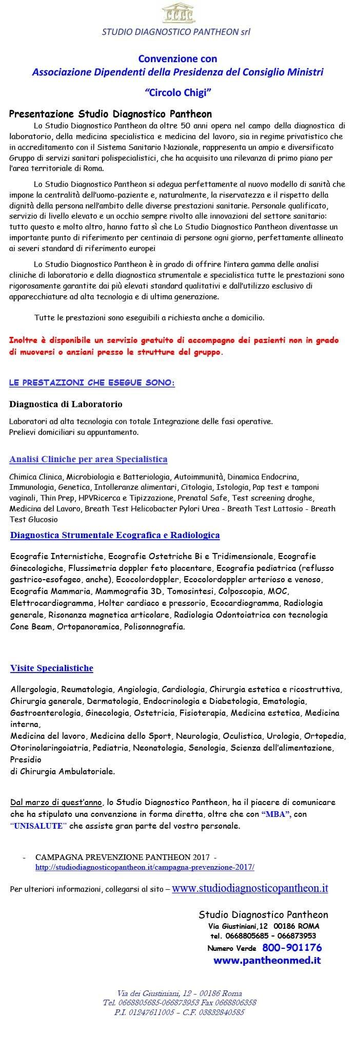 Studio Diagnostico Pantheon